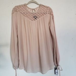 Mossimo Boho Top Size Small Blush Peasent Shirt
